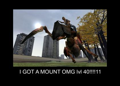 Alex gets a mount! lvl 40!