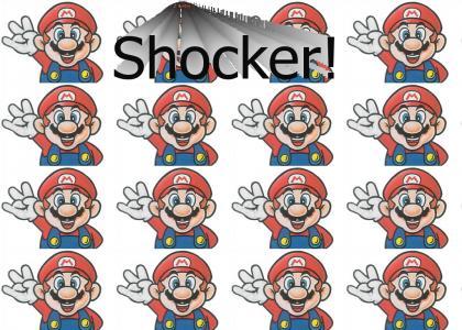 Mario Throws Up The Shocker