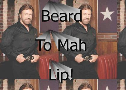 Beard to mah lip