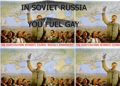 GAY FUEL SPREADS INTO RUSSIA