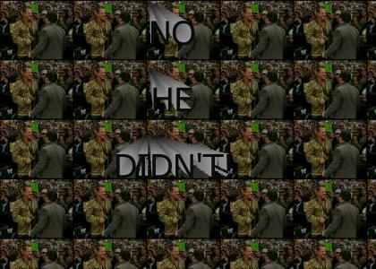 No He DIDNT