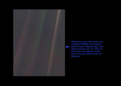 Pale Blue Dot (an atheist's view - tiny update)