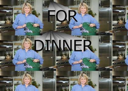 Martha Stewart likes puppies (late night test)
