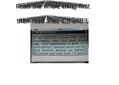 Read Only Lines 1,3 and 5