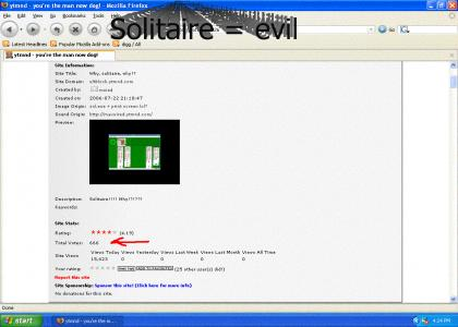 solitaire mishap the work of the devil