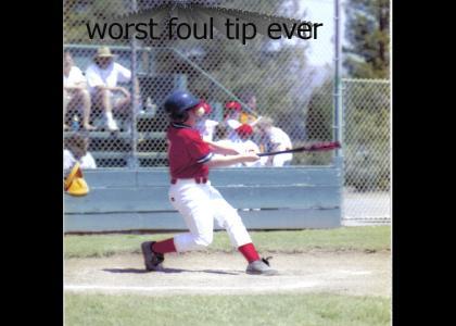foul tip