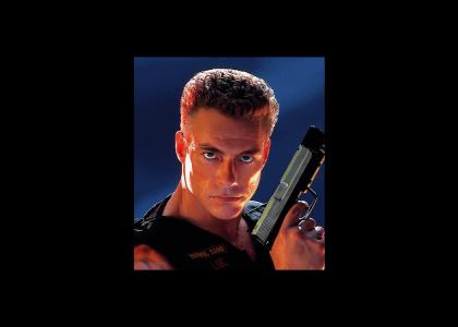 Jean-Claude Van Damme doesn't change facial expressions