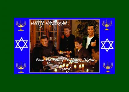 Happy Hanukkah from The Fonz