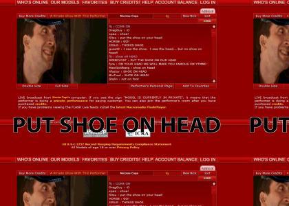 Nicolas Cage:Put Shoe On Head(animated)