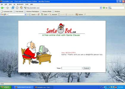 Santa is polite.....