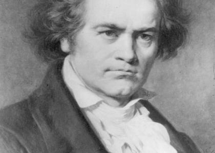 Ludwig van Beethoven stares into your Soul
