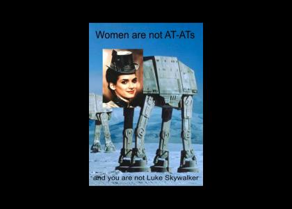 Women are not AT-ATs