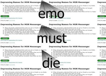 OMG I FOUND ALL THE EMO SENTENCES