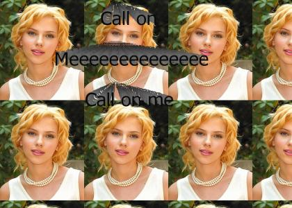 Scarlett Johansson doesn't change facial expressions (Take Two)