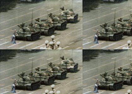 Gandalf Protests at Tiananmen Square