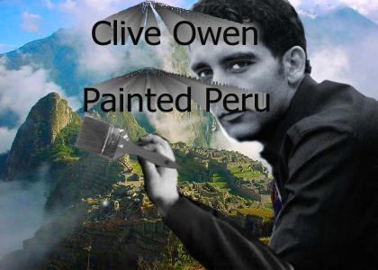 Clive Owen painted Peru