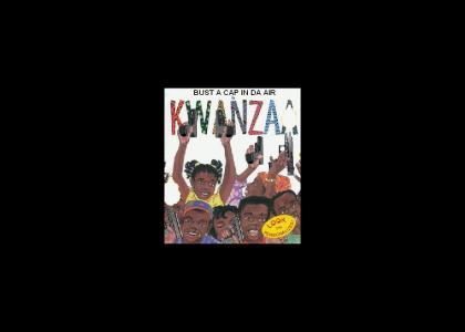 Bust a cap fo` Kwanzaa