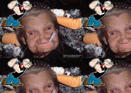Popeye's mother has been found