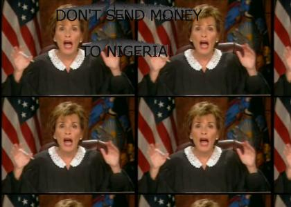 DON'T SEND MONEY TO NIGERIA!