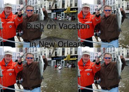 President Bush on vacation in New Orleans