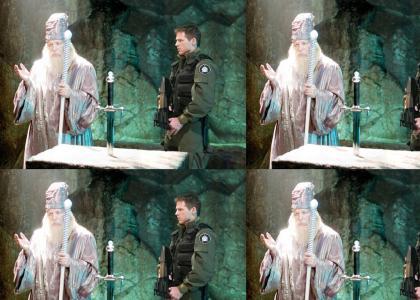 SPOILER: Dumbledore cameo appearance in season 9 of Stargate