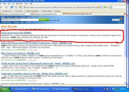 MSN Hates EDDIE GUERERRO ! WTF!?!? ( WWE )