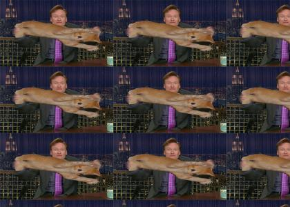 Conan Has A Rubber Cat!