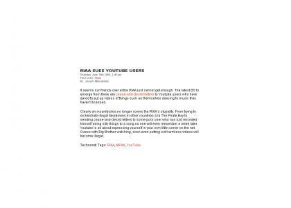 RIAA Targets YouTube