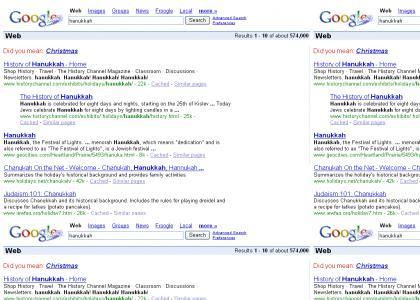 google pwns hanukkah