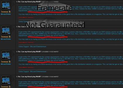 WoW Framerate Not Guaraunteed