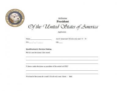 Presidential Applicaion