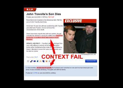 R.I.P. John Travolta 's Son