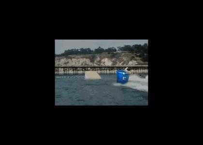 Bucket Dog Jumps the Robot Shark