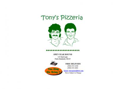 Tony (toolofthesystem) owns a pizza shop!