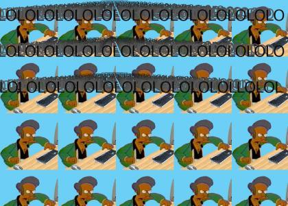 Apu views a typical LOUDTMND