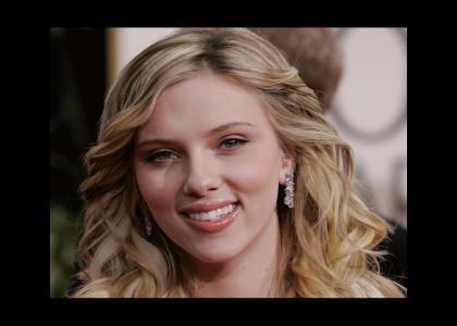 Scarlett Johansson... stares... um...