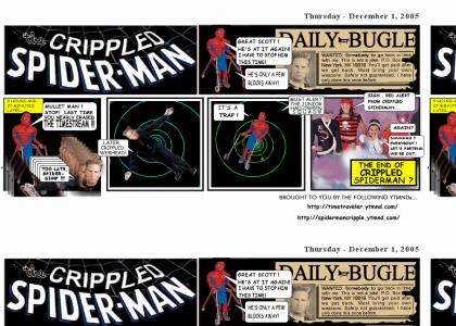 CRIPPLED SPIDERMAN 's Safety Not Guaranteed !  Enter the TIME TRAVELING MULLET MAN !