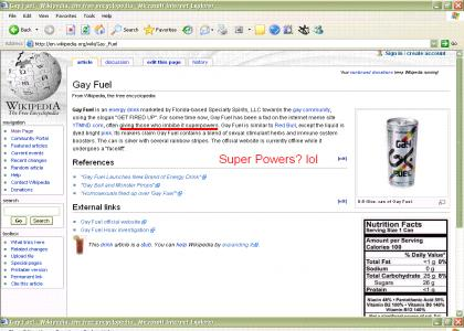Gay fuel Gives Superpowers?