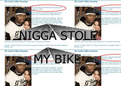 50 Cent stole his own bike!