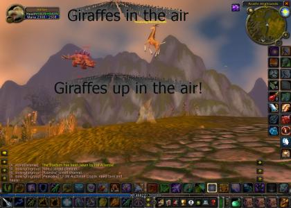 Giraffes in the air! (with 100% more WoW)