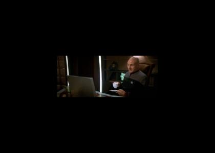 Picard surfs the net
