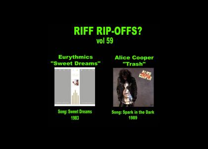 Riff Rip-Offs Vol 59 (Eurythmics v. Alice Cooper)
