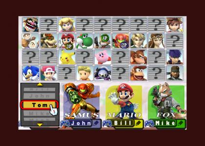 !!!Super Smash Bros. Brawl - Character Select Screen 5.0!!!