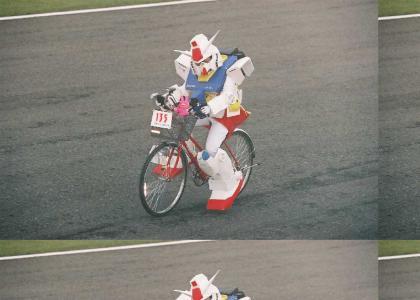 GUNDAM STOLE MY BIKE!!!!!!!