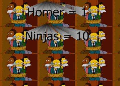 Epic Homer Karateman Manuever