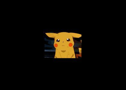 Pikachu sheds into tears