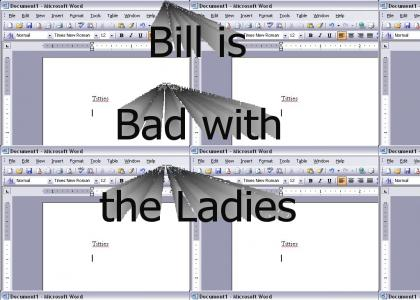 Bill Gates is Bad With the Ladies