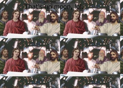 Jesus Takes the Wheel of Millennium Falcon
