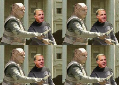 Darmok and Howard Dean at Whitehouse