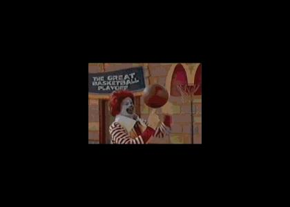 RONALD CAN DUNK!! *NO JOKE*